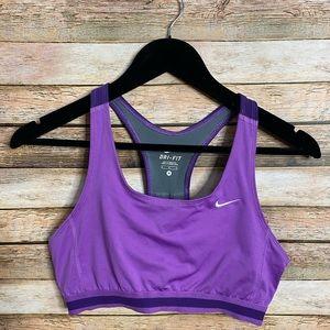 Nike| Dry Fit Sports Bra| Size M| Purple